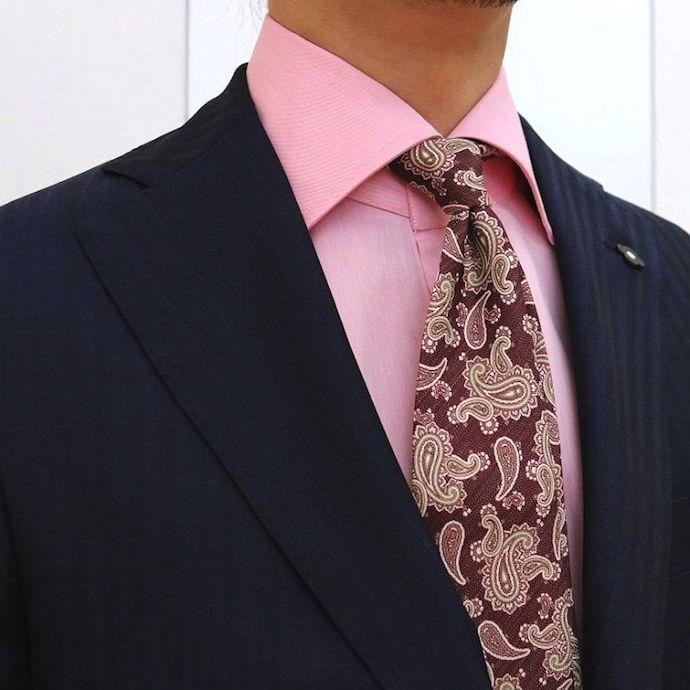 GUY ROVER(ギローバー)コットン ツイル ソリッド ワイドカラードレスシャツ