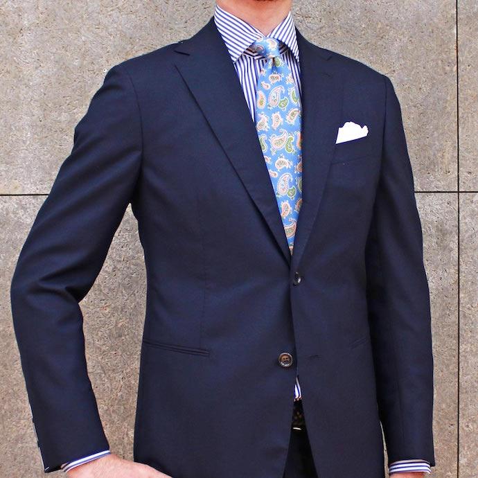 STILE LATINO(スティレ ラティーノ)ウール フレスコ ソリッド シングル3Bスーツ
